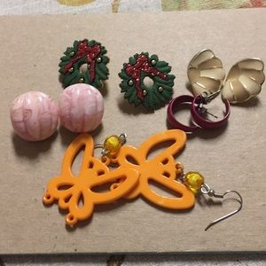 Funky bundle of Pierced earrings
